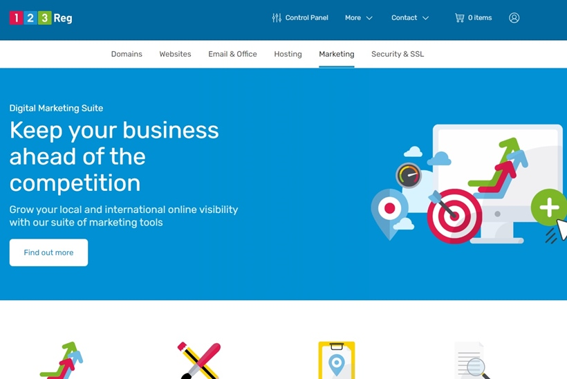 rankingCoach is integrated as Full Marketing Suite into UK's #1 web hosting company 123 Reg
