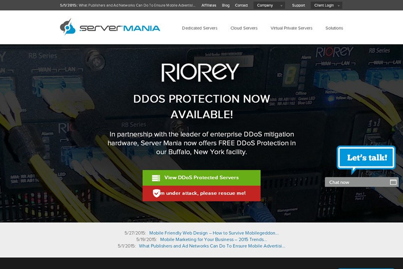 Hosting Services Provider ServerMania Announces Launch of New Data Center