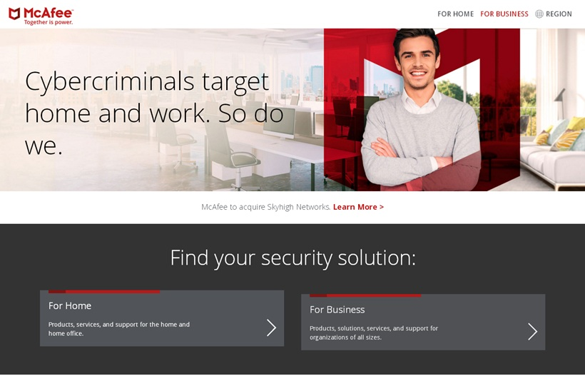 Security Software Provider McAfee Acquires Cloud Security Company Skyhigh Networks