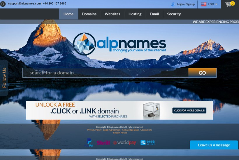 Domain Name Registrar AlpNames Becomes Second Largest New gTLD Registrar in the World