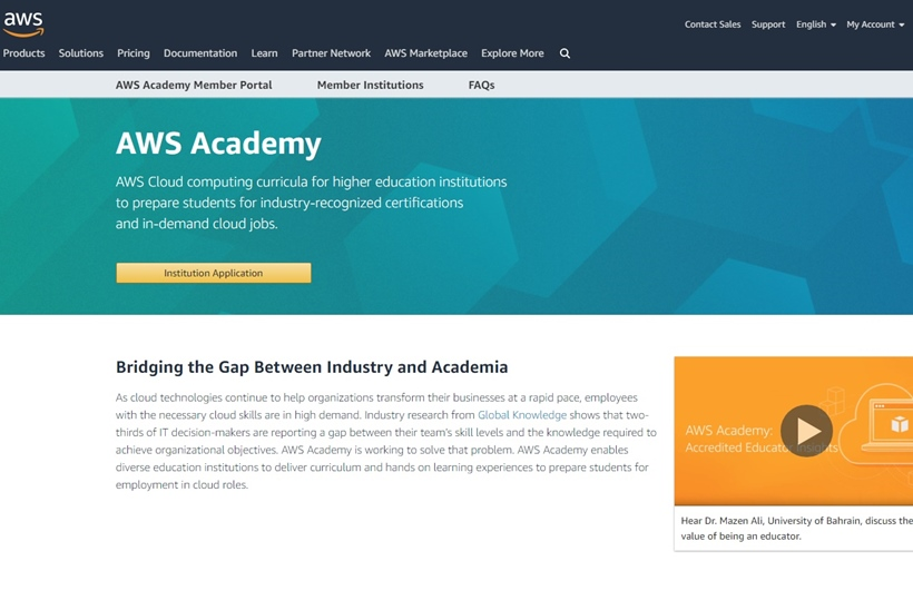 Leading British University Joins AWS Academy