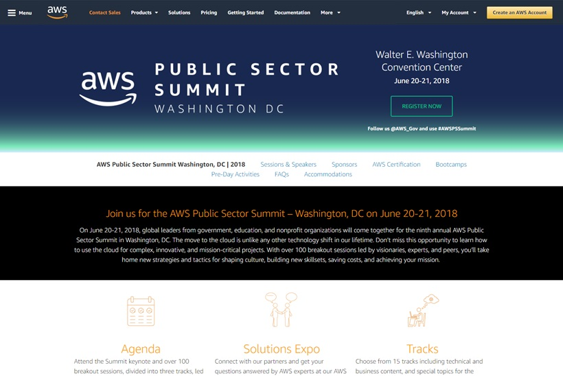 AWS Public Sector Summit Takes Place June 20-21, 2018