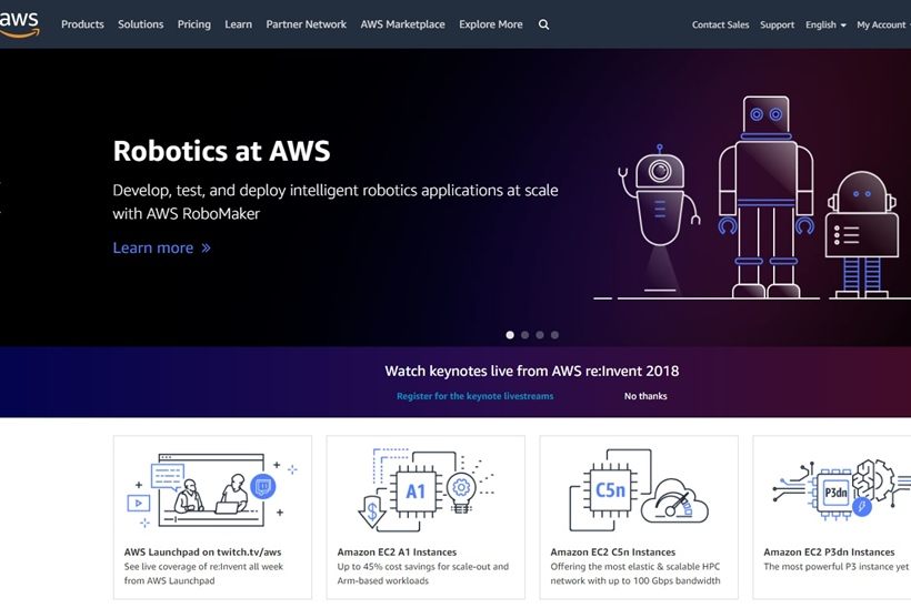 Cloud Giant AWS Launches AWS RoboMaker