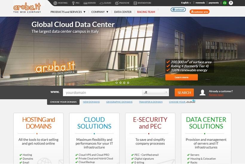 Data Center Services Provider Aruba to Make Major Investment in Italian Data Center