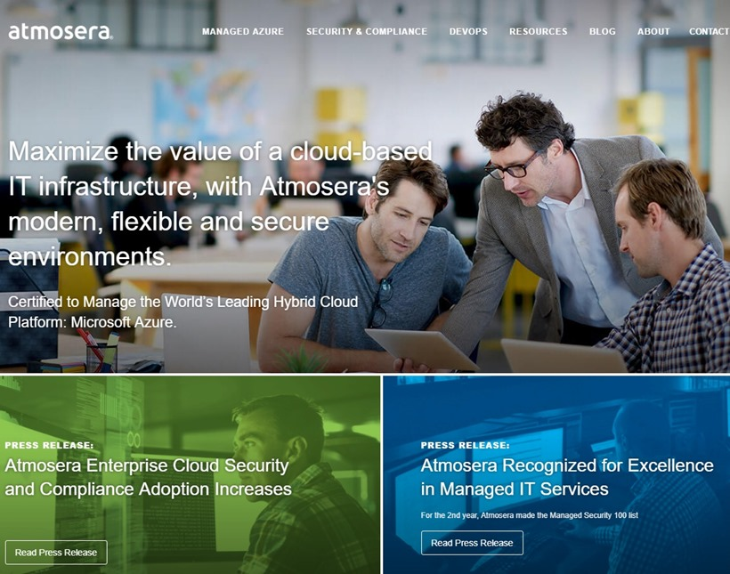 Microsoft Azure Cloud Services Provider Atmosera Recognized by Cloud Awards