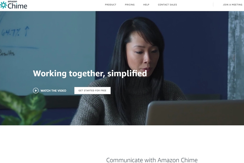 Cloud Giant AWS Launches Amazon Chime