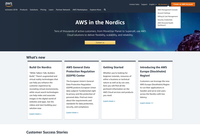 Cloud Giant AWS Launches Data Centers in Sweden
