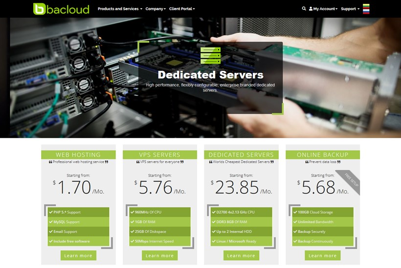 Web Host Bacloud Takes Two Popular Services to the United States