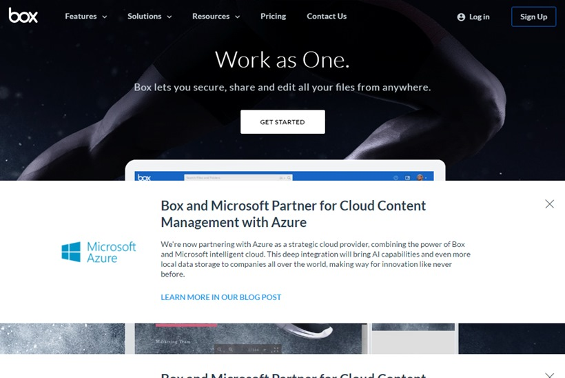Cloud Giant Microsoft and Cloud Content Management and File Sharing Company Box Form Partnership
