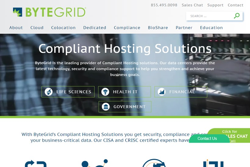 Secure Solutions Provider ByteGrid Wins Contract for Compliant Hosting Services