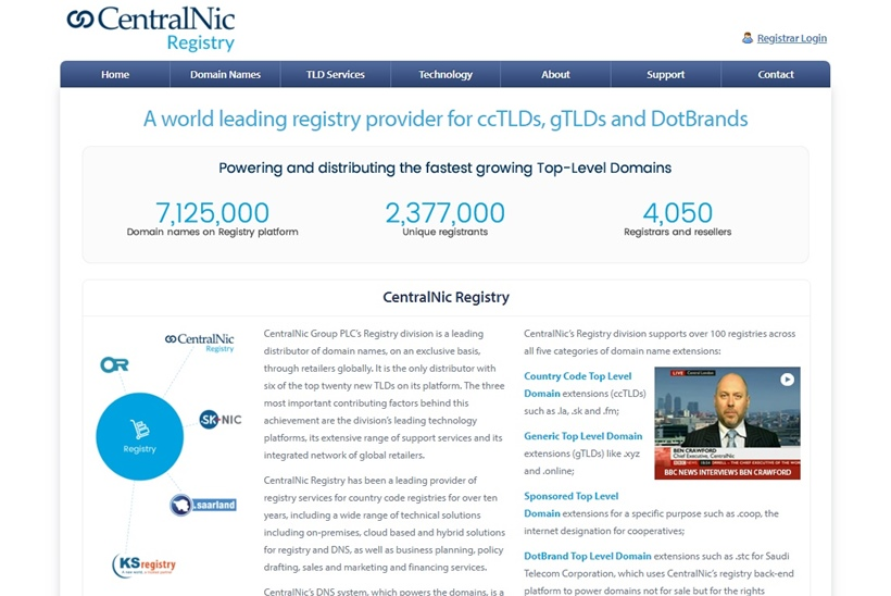Domain Registrar and Web Host CentralNic Acquires Domain Name Provider GlobeHosting