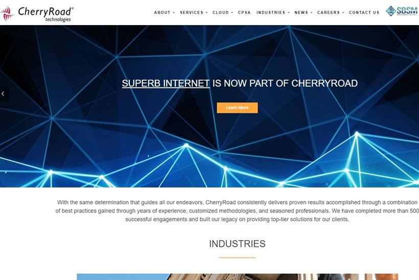 Enterprise Software Solutions Integrator CherryRoad Technologies Acquires Web Hosting Services Provider Superb Internet