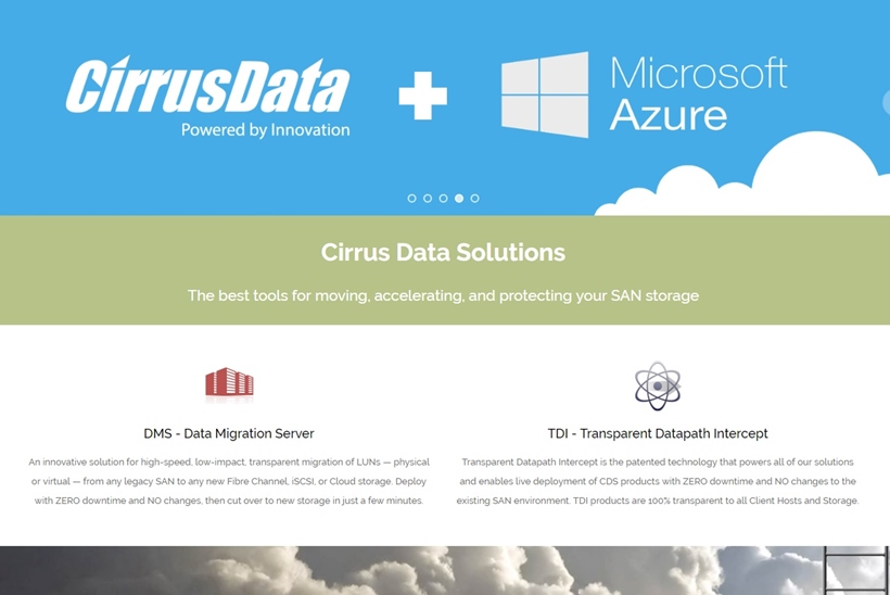 Storage Experts Cirrus Data Services Launches Services in Salt Lake City