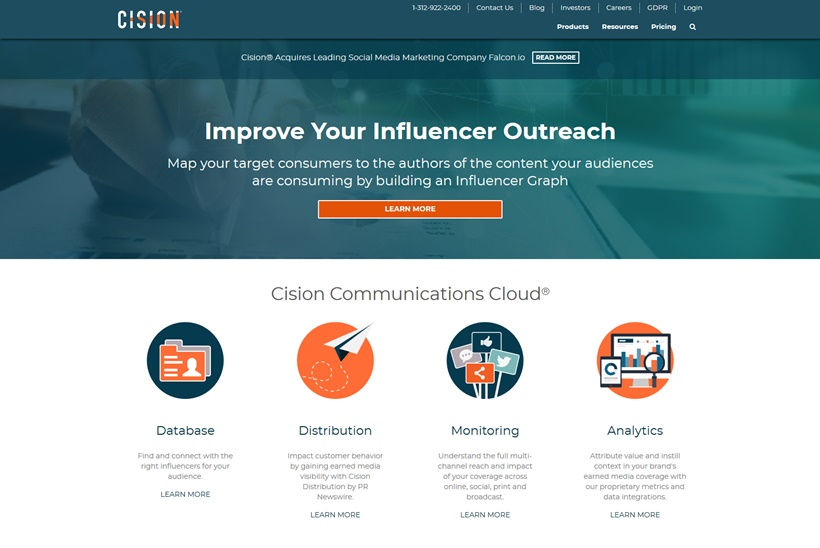 Public Relations and Marketing Services Provider Cision Acquires Social Media SaaS Platform Provider Falcon.io