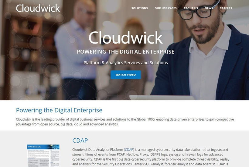 Bimodal Digital Business Services and Solutions Provider Cloudwick Announces Launch of Cybersecurity Platform Solution