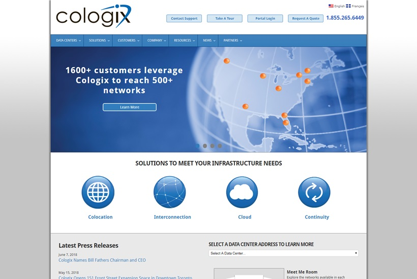 Data Center, Colocation and Cloud Services Provider Cologix Appoints Bill Fathers Chairman and CEO