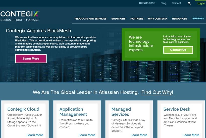 Managed Cloud Services Provider Contegix Buys Cloud Service Provider BlackMesh