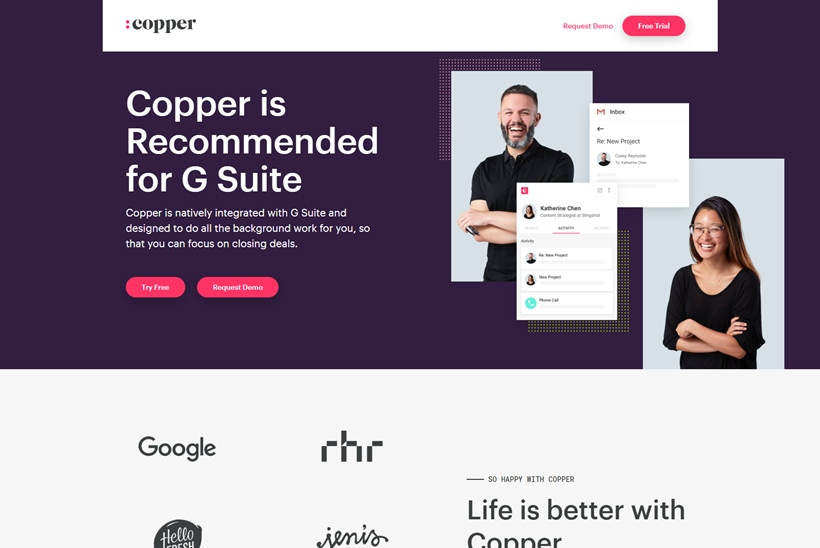 CRM Solutions Provider Copper Wins a $15 Million Investment