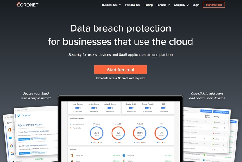 Cyber Security Services Provider Coronet and Storage and Collaboration Platform Dropbox Form Partnership