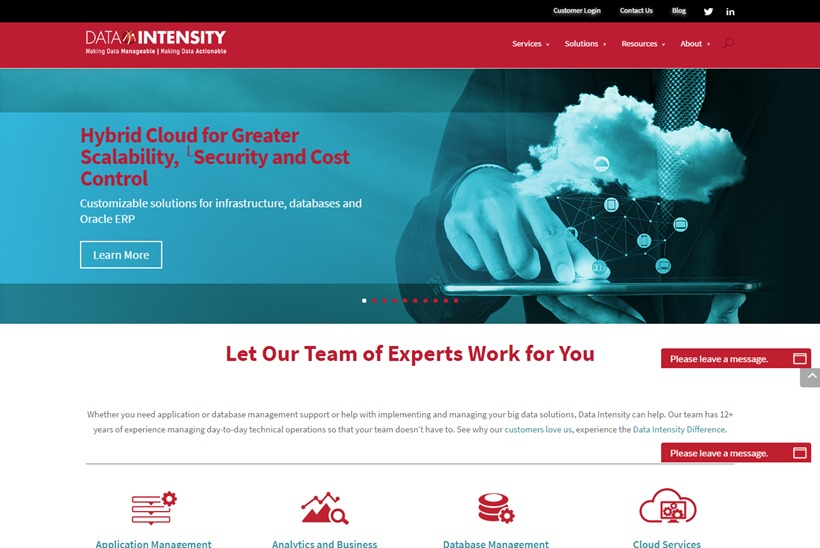 Managed Application and Database Services Provider Data Intensity Acquired by Alternative Investments Firm EQT