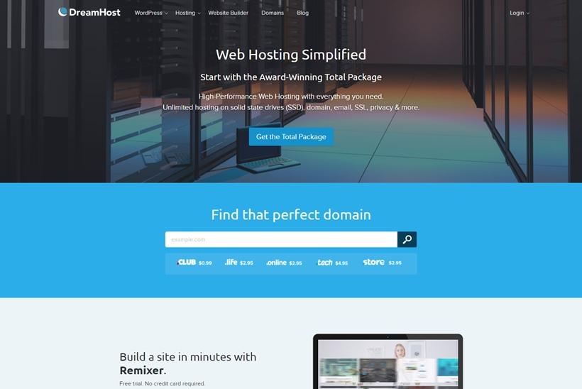 Web Hosting Provider DreamHost Announces Launch of 'Remixer' WordPress Feature