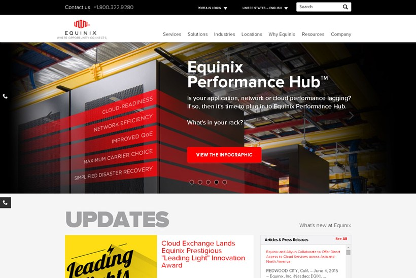 Web Hosting News Data Center Company Equinix Signs Power Purchase