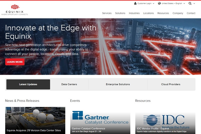 Data Center Company Equinix Opens Amsterdam Facility