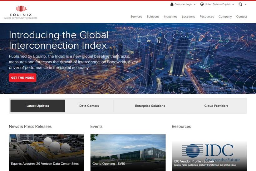 Data Center Company Equinix Launches New Silicon Valley Facility