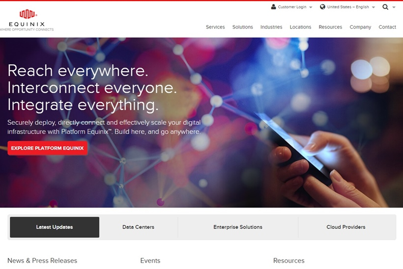 Data Center Company Equinix Completes Acquisition of Data Center Specialists Metronode