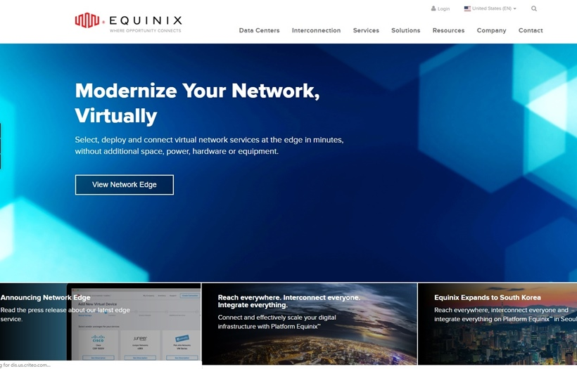 Data Center Company Equinix Opens New Japanese Facility