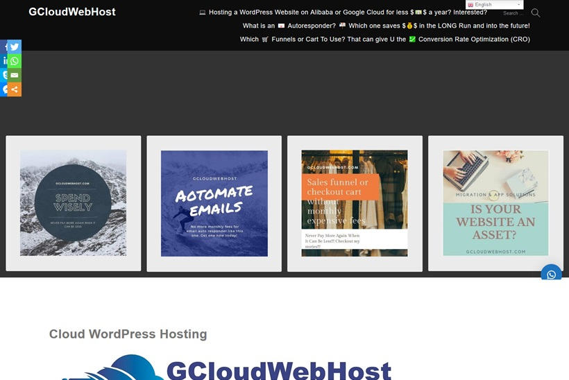 Web Host and Cloud Provider GCloudWebHost to Make Website Hosting Cheaper
