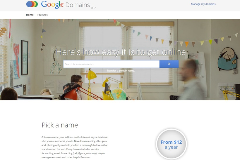 Google Launches Domains Name Service