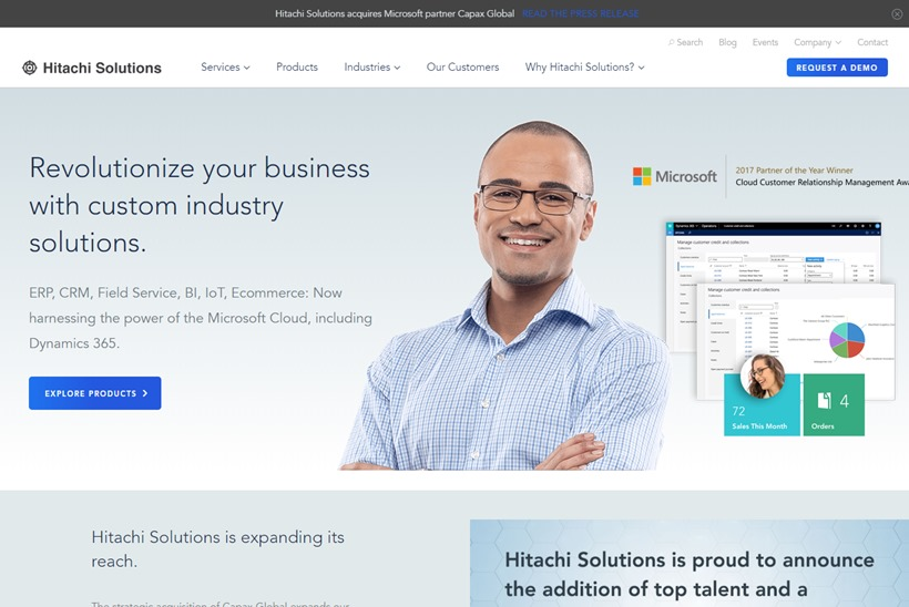 Microsoft Cloud Specialist Hitachi Solutions America Acquires IT Professional Services Provider Capax Global