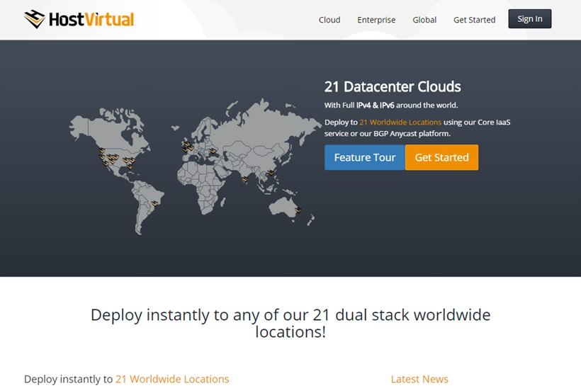 Cloud Hosting Provider Host Virtual Adds POPs and Availability Zones