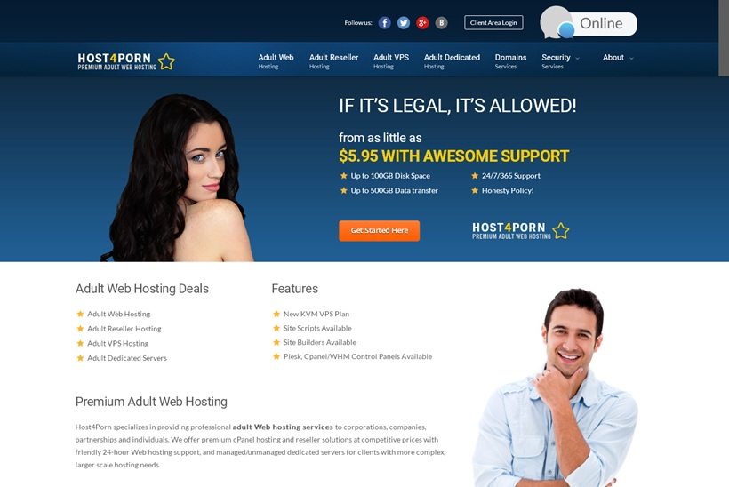 Adult hosting reseller