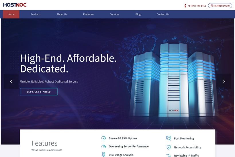 Cloud Hosting and Data Center Services Provider HostNOC Announces Launch of Affiliate Program
