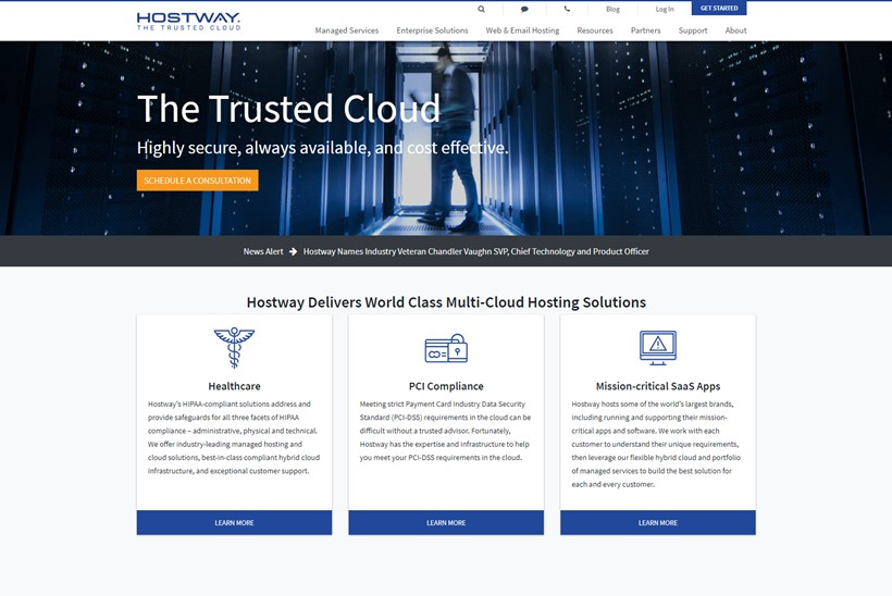 Patrick Emerson Joins Compliant Cloud Hosting Solutions Provider Hostway