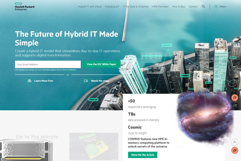 Enterprise IT Company HPE Announces OneSphere Management Application for Hybrid Clouds