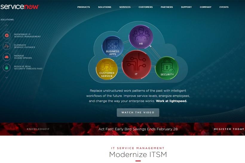 Cloud Giant 'Big Blue' and Enterprise Cloud Company ServiceNow Form Partnership