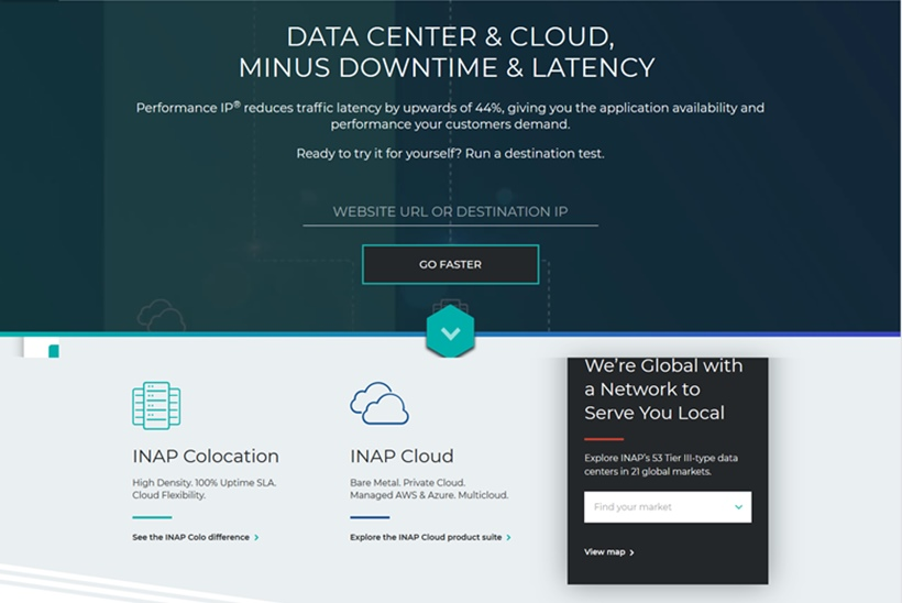 Data Center and Cloud Solutions Provider INAP Launches Managed Cloud and Monitoring Service