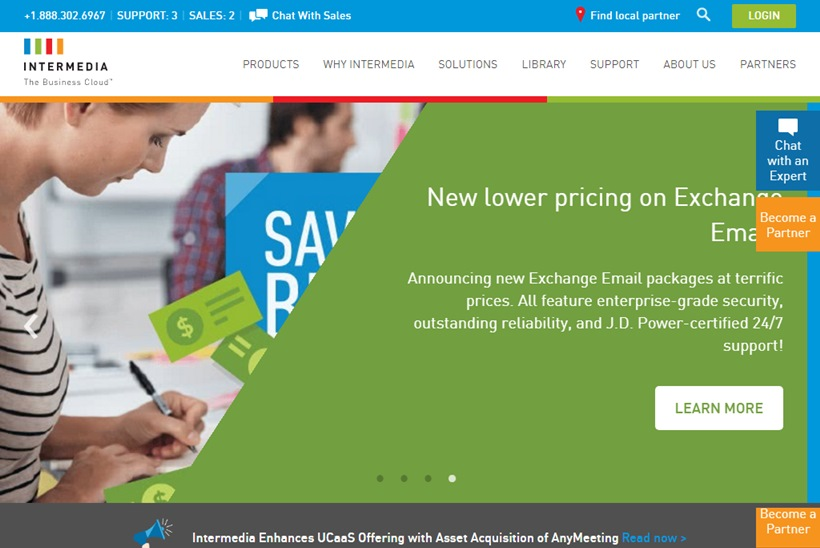 Cloud Business Applications Provider Intermedia Acquires Web Conferencing Solution AnyMeeting