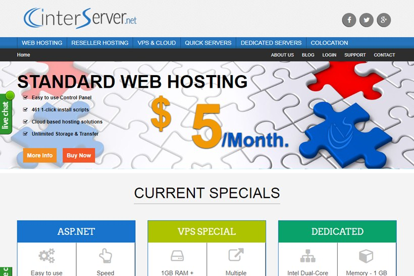 Web Host InterServer Chooses VXchnge for Colocation Services