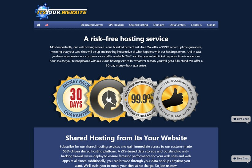 New Host Itsyour.website Announces Launch of Services