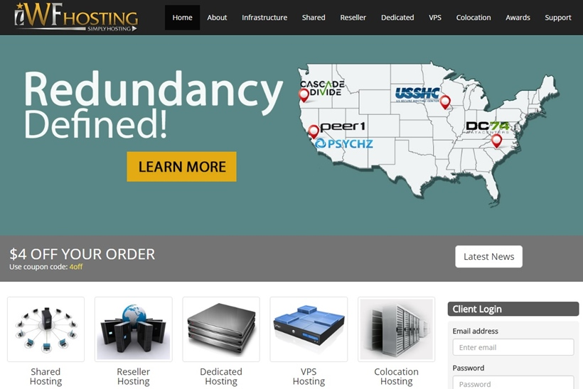 Hosting and Internet Solutions Provider H4Y Technologies Expands iWF-Hosting.net's Product Line