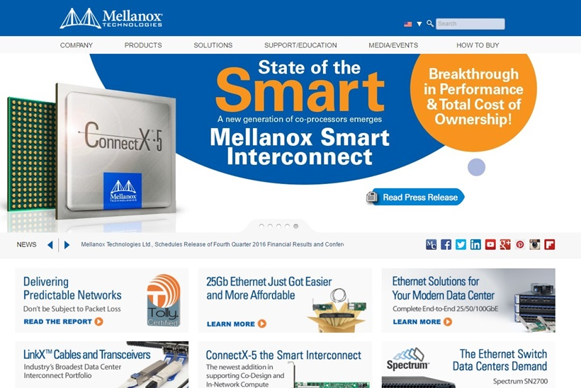Data Center Servers and Storage Systems Provider Mellanox Technologies Announces IDG4400 Flex Network Platform