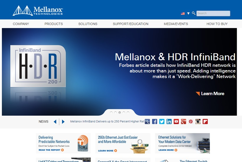 End-to-end InfiniBand and Ethernet Solutions Provider Mellanox Announces Support for IBM Power Systems' New Open Platform for DBaaS
