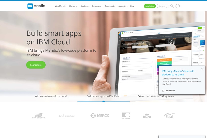 Applications Development Platform Provider Mendix Signs Global Reseller Agreement with Cloud Giant IBM