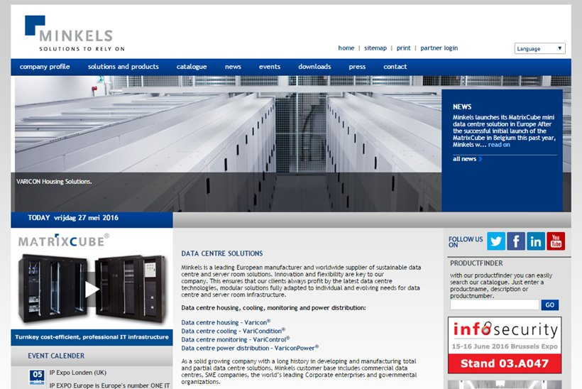 Data Center Solutions Provider Minkels Extends MatrixCube to the Netherlands