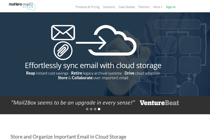 Email and Cloud Storage Convergence Technology Provider mxHero Integrates Mail2Cloud and OneDrive for Business