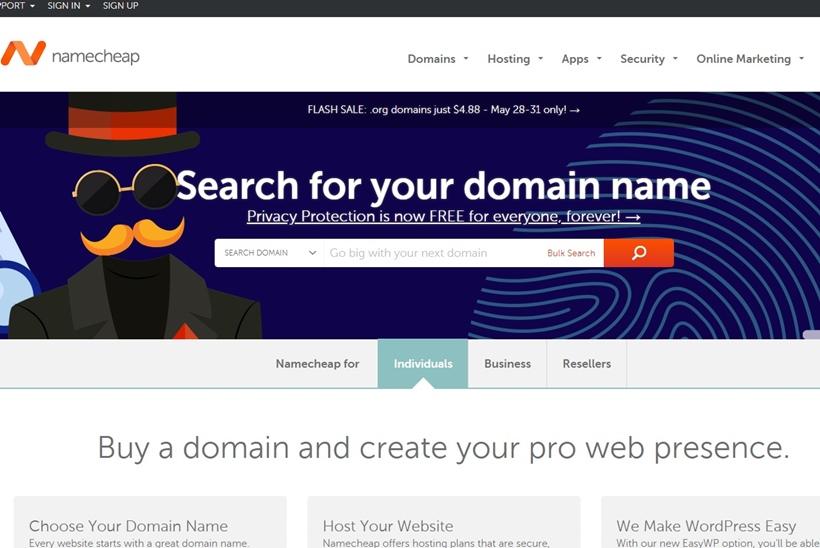 Domain Registrar Namecheap Offers Free Lifetime 'Whois' Protection